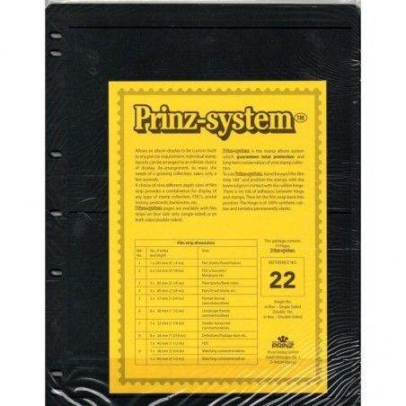 2 strip Prinz System Stock sheets -  double sided 7 hole punched