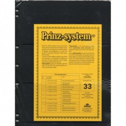 3 strip Prinz System Stock sheets -  double sided 7 hole punched
