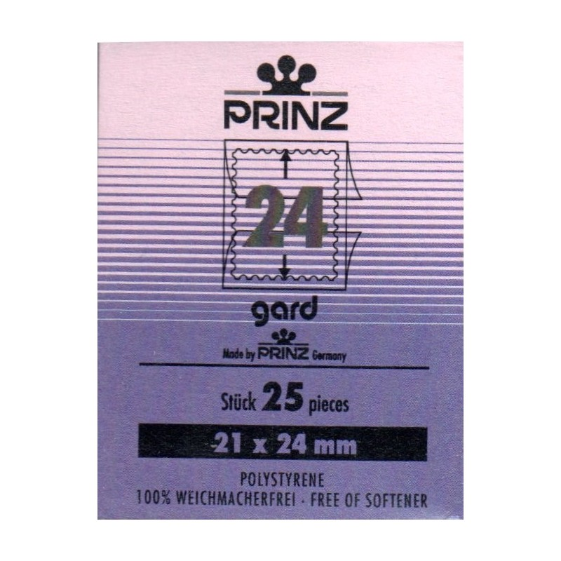 21x24mm Cut to size Gard Black backed stamp mounts x 25