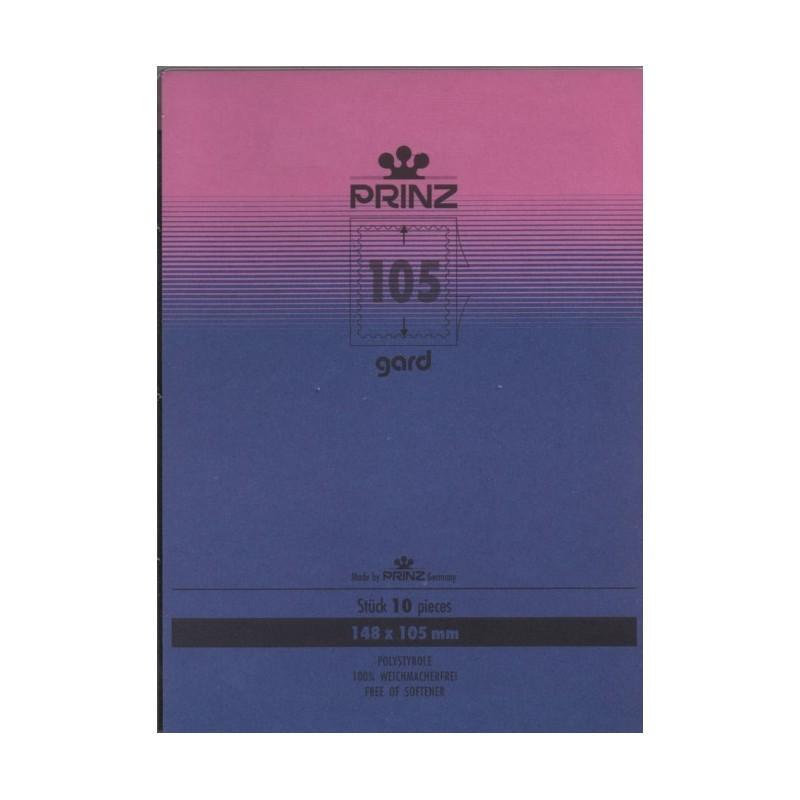 148mm x 105mm stamp mount blocks Gard black backed per 10