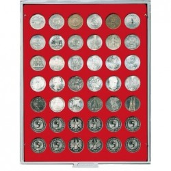 Lindner Coin Box 42x 29.5mm round compartments