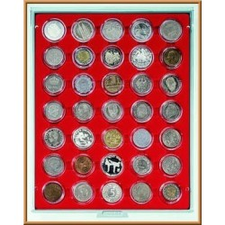 Lindner Coin Box 35 x 36mm compartments for coins in capsules