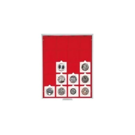 Lindner Coin Box 20 x 50mm square compartments