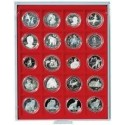 Lindner Coin Box 20 x 51mm square compartments