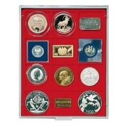 Lindner Coin Box 12 x 66mm square compartments