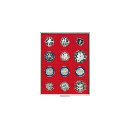 Lindner Coin Box 12 x 68mm square compartments