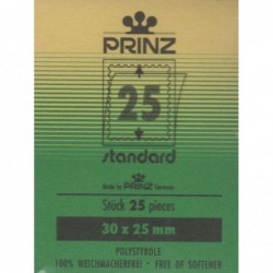30x25mm Cut to size Standard Clear backed stamp mounts x 25
