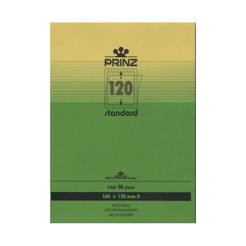 160mm x 120mm stamp mount blocks Standard Clear backed per 10