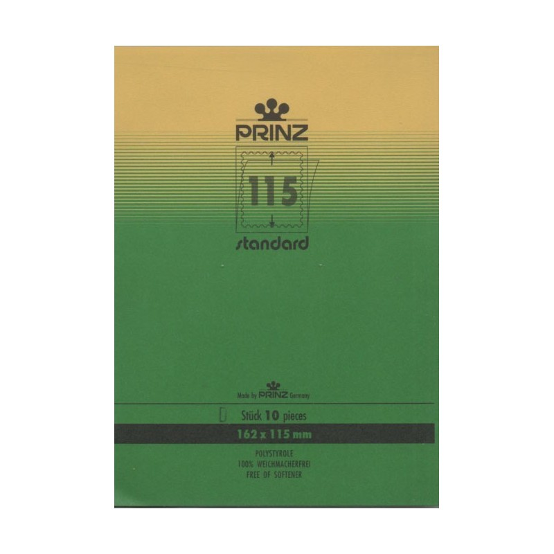 162mm x 115mm stamp mount blocks Standard Clear backed per 10