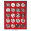 Lindner Coin Box 20 x 46mm compartments for coins in capsules