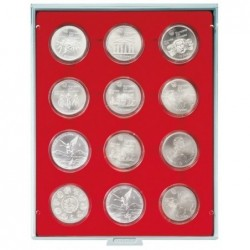 Lindner Coin Box 12x 54mm compartments for coins in capsules