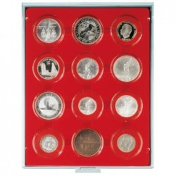 Lindner Coin Box 12x 58mm compartments for coins in capsules