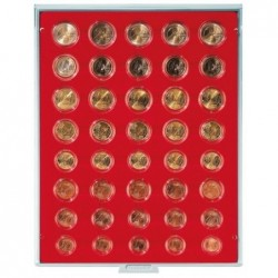 Lindner Coin Box 40 compartments for 5 x euro set
