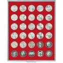 Lindner Coin Box 30 x 34mm round compartments