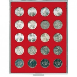 Lindner Coin Box 20 x 38mm round compartments