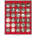 Lindner Coin Box 30 x 37mm round compartments