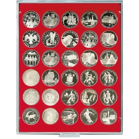 Lindner Coin Box 30 x 39mm round compartments