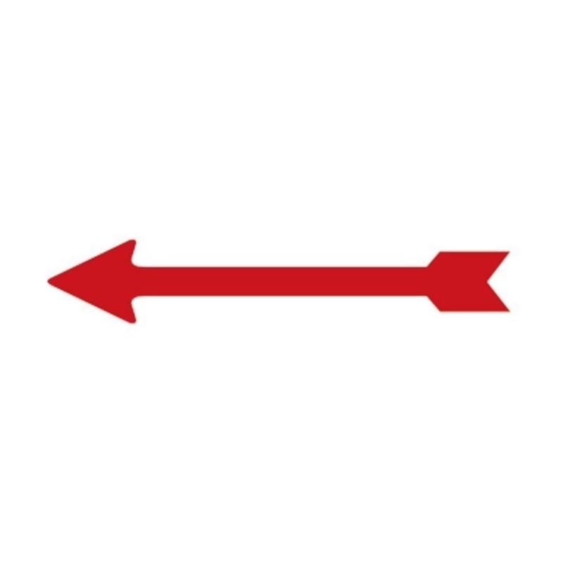 Lindner Arrow indicators x 100 red, 26mm long self adhesive