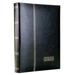 Lindner Luxus Leather stockbook 30 black pages 60 sides