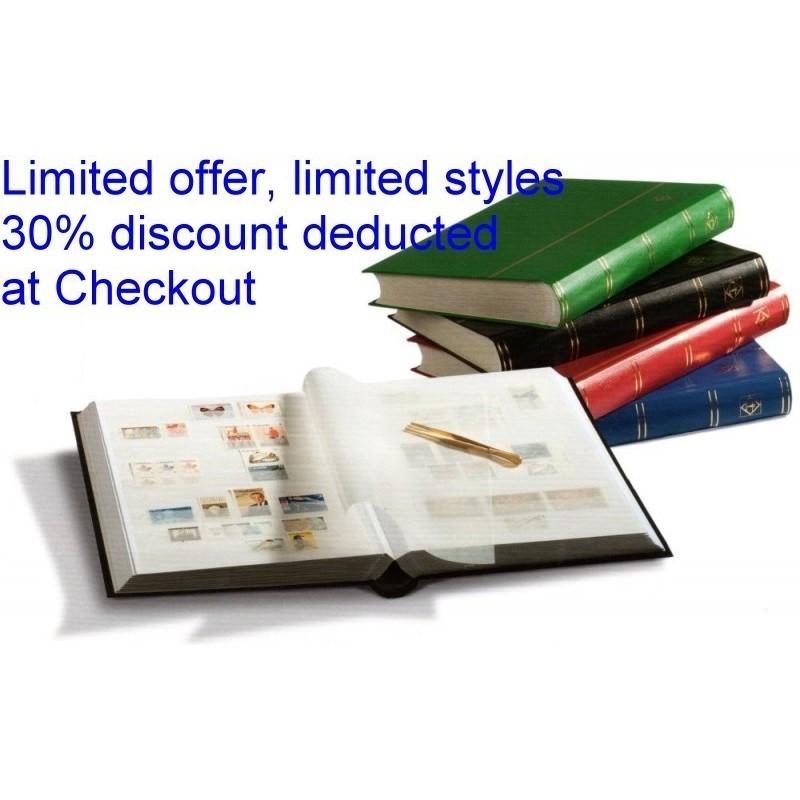 Lighthouse Basic white page stockbooks - choice of sizes