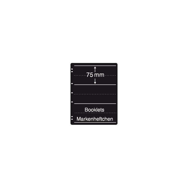Prinz System Booklet sheets - 3 strip pack of 5