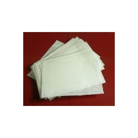 Clear faced film front white paper bags - 12 x 16 inches
