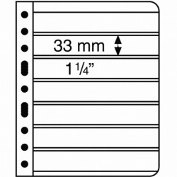 Lighthouse Vario pages black backed 7 pocket - pack of 5