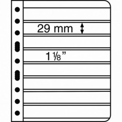 Lighthouse Vario pages black backed 8 pocket - pack of 5