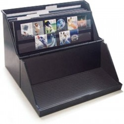 Storage box for stockcards up to A5 size - black