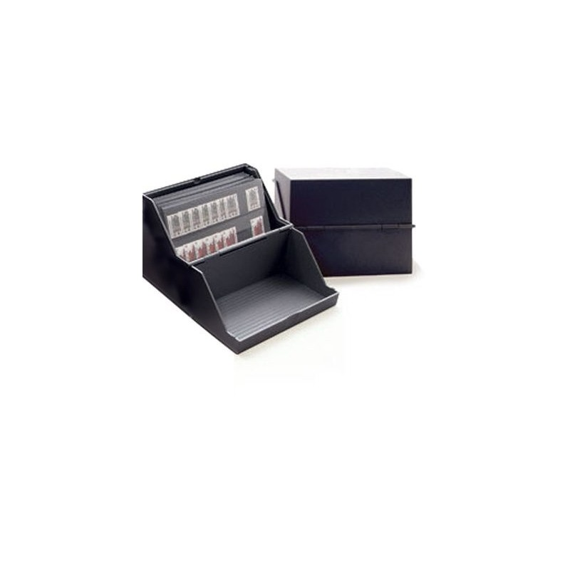 Storage box for stockcards up to A6 size - black