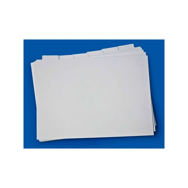 Register card set for A5 size stockcards