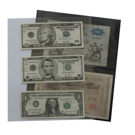 Lindner Multi Collect Clear Stock pages - black or clear backed - range of formats