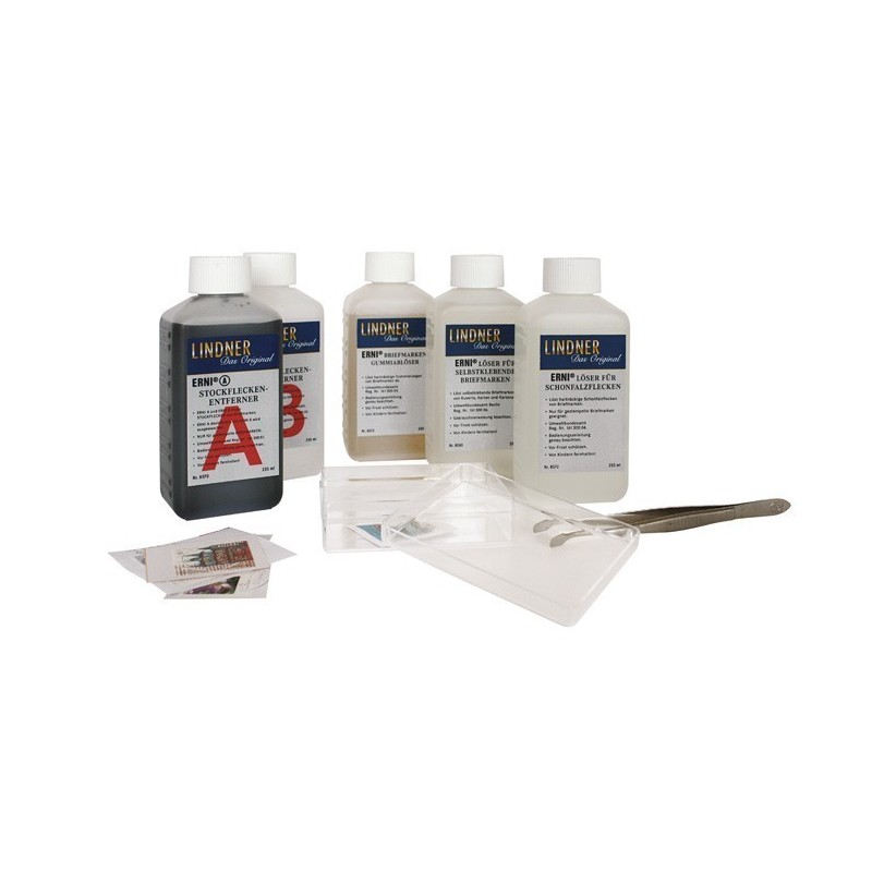 Lindner Erni Stamp care products - professional treatments for stamps