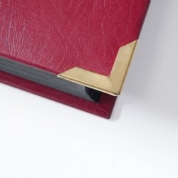 Prinz Royal Stockbook 16 black pages 32 sides leather cover