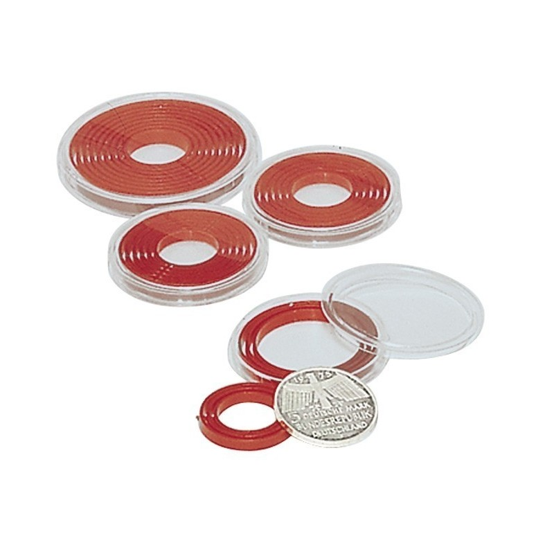 Lindner Small Coin Capsules with flexi insert - choice of styles