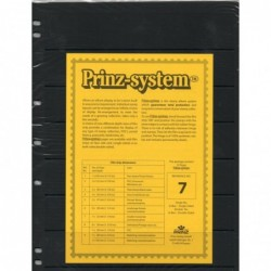 7 strip Prinz System Stock sheets -  single sided 7 hole punched