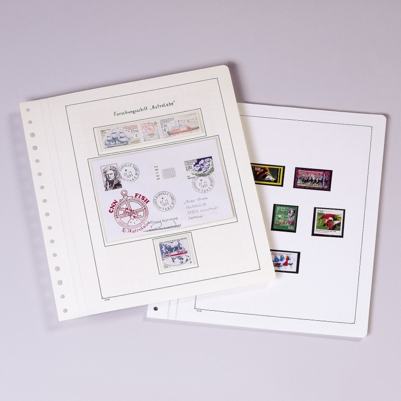 KABE Blank album pages - heavier weight paper Linen Hinged - per 10