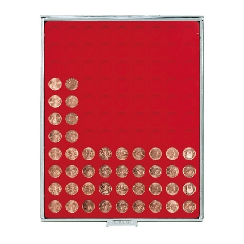 Lindner Coin Box 99 x 19.25mm round compartments