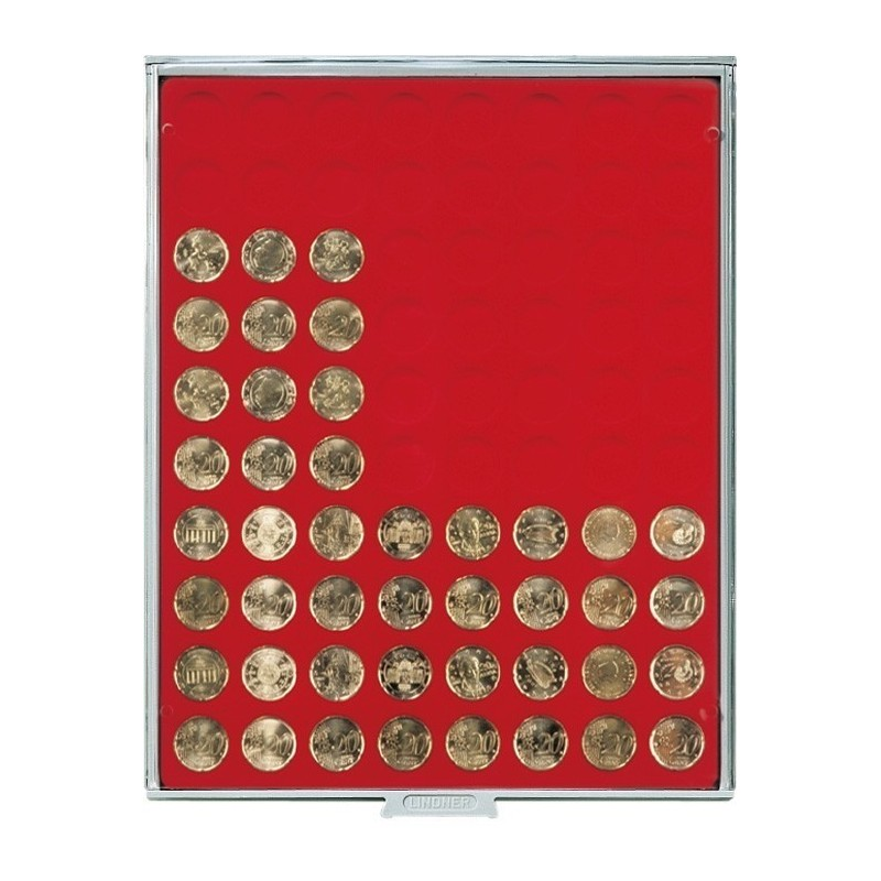 Lindner Coin Box 80x 22.25mm round compartments
