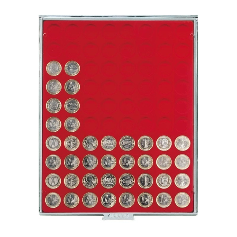 Lindner Coin Box 80 x 23.5mm round compartments
