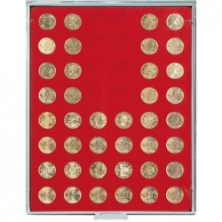 Lindner Coin Box 48x 24.25mm round compartments