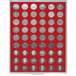 Lindner Coin Box 54 x 26.75mm round compartments