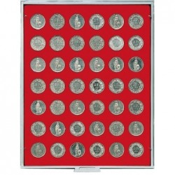 Lindner Coin Box 42 x 27.5mm round compartments
