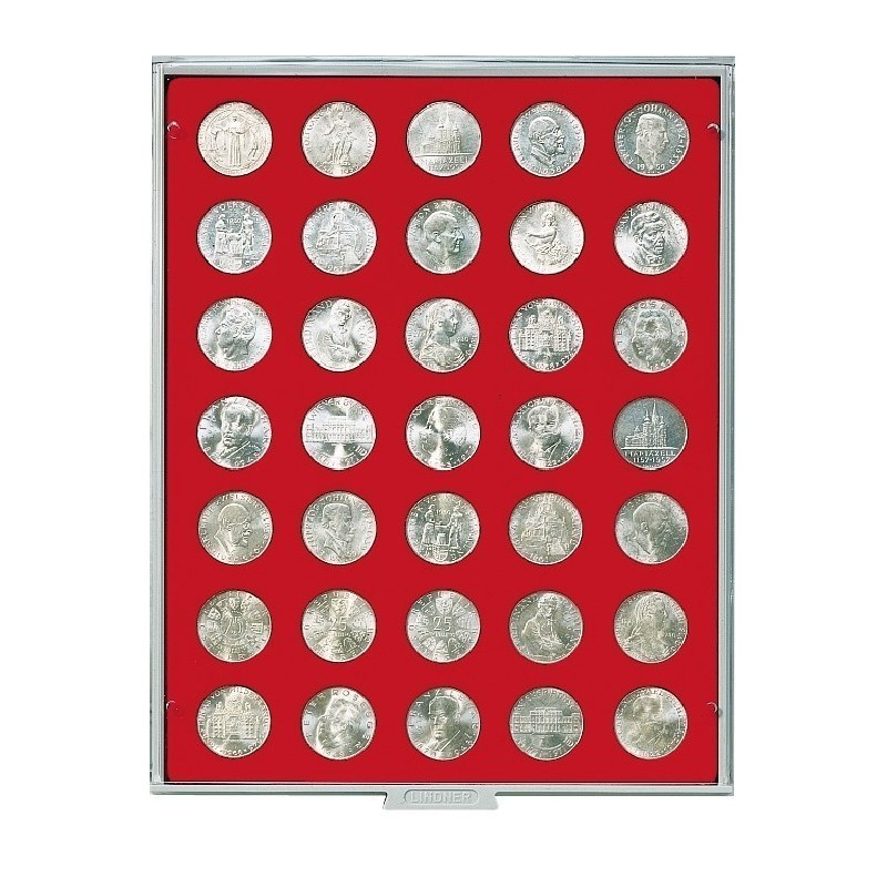 Lindner Coin Box 35 x 30mm round compartments