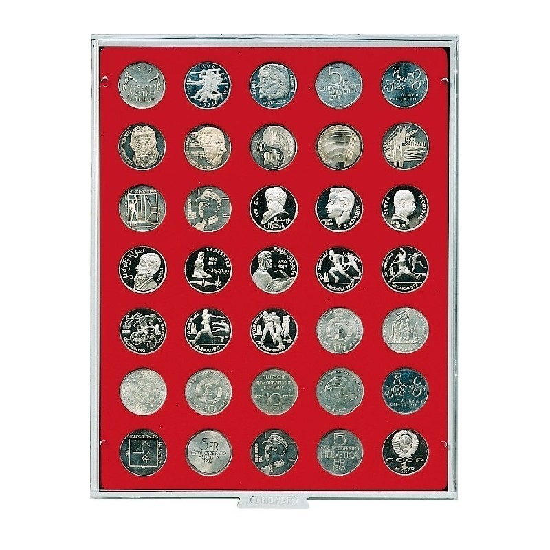 Lindner Coin Box 35 x 31mm round compartments
