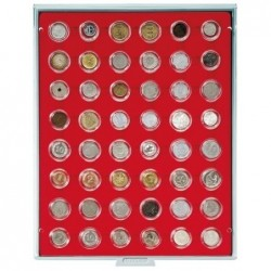 Lindner Coin Box 48 x 26mm compartments for coins in capsules