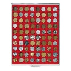 Lindner Coin Box 80 x 24mm square compartments