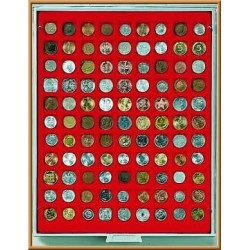 Lindner Coin Box 99x 19mm square compartments