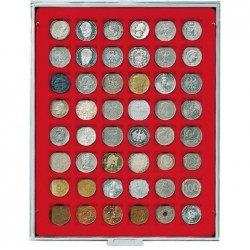 Lindner Coin Box 48 x 28mm square compartments