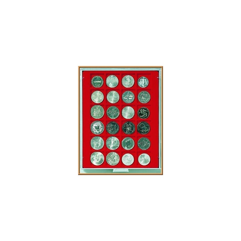 Lindner Coin Box 24 x 42mm square compartments